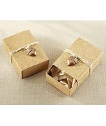 120 Gold Foil Leaf Favor Box with Acorn Charm - $94.96