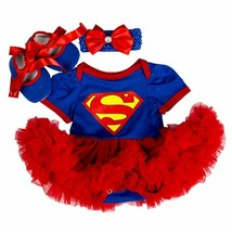 Baby Costume Supergirl costume for Baby Infant Party Dress Tutus Newborn - $22.45