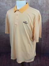 Oxford Golf Kokopelli GC Logo 100% Cotton Orange Stripe Polo Shirt Men's L - $21.77