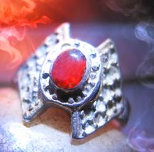 Haunted RING GUARDIAN SPIRIT VESSEL HELP ASSIST MAGICK 925 GARNET Cassia4 - $30.00