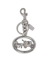 Coach Women's Horse and Carriage Bag Charm (Silver)