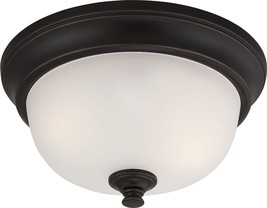 "Dylan LED ORB Bronze Flush Ceiling Light 11""Wx5""H - $79.99"