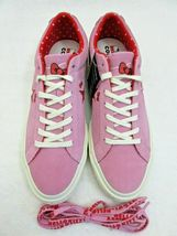 Converse One Star Ox Mens Hello Kitty Pink Prism Red Suede Shoes Size 10 New  image 3