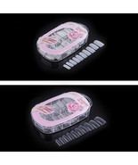 100 pcs False Acrylic Gel French Nail Art Half Tips Salon Nail Manicure ... - $5.99