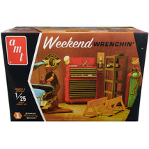Skill 2 Model Kit Garage Accessory Set #1 with Figurine Weekend Wrenchin... - $53.21