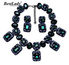 Lady Arrival Za Fashion Statement Luxury Crystal Gem Vintage Necklace&pe... - $26.04