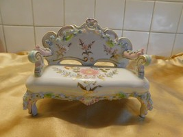 """Adorable Porcelain Bench! Measures 6"""" by 5""""! - $46.46"""