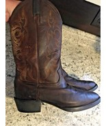 JUSTIN Men's Brown Leather Western Cowboy Boots #2551 SIZE 9 D - $37.04