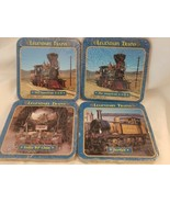 New Legendary Trains Coasters Cork Back Atlas Edition Set of 2 (HD5) - $8.86