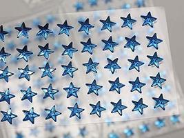 KraftGenius Allstarco 6mm Blue LQ05 Star Self Adhesive Acrylic Rhinestones Plast - $9.79