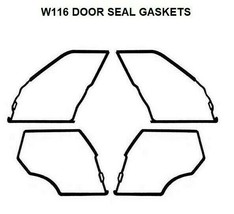 4x Door Seals Weatherstrip OUTER DOOR Seal Gaskets 280S 280SE Mercedes B... - $374.00