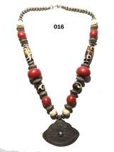 Tibetan Banjara Necklace Stone Beaded Tribal Resin Gypsy Ethnic India Je... - $17.41