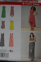 Dress Misses size XXS-XXL Simplicity 1358 Sewing Pattern  - $9.40