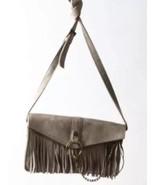 Steve Madden Faux Suede Fringe Envelope Bohemian Cross Body Bag Purse - $7.99