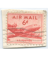 S15 - 6 Cent Airmail DC4 Stamp - Small - €0,84 EUR