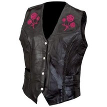 Live-Ride-Rock Ladies' Rock Design Genuine Buffalo Leather Vest - $79.95
