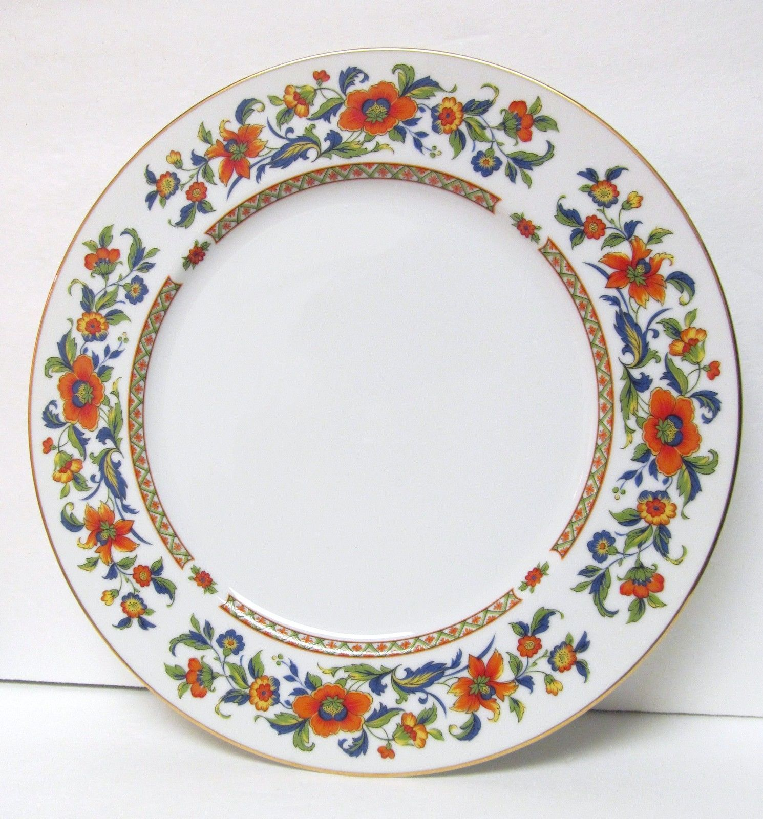 Sango Cannes 2 Dinner Plates Pattern #8078 Flowers