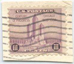 S26 - 3 Cent Chicago Century of Progress Stamp Scott #731 - $0.99
