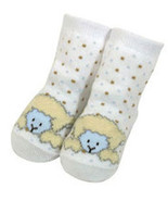 Baby Boys Wooly Chenille Lamb Booties Size 0-6 Months - $5.00