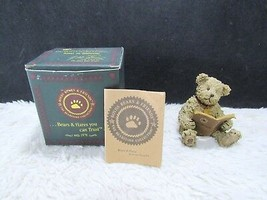 2002 Boyd's Bearstone Resin Theodore M. Bear Collectible Figurine, Decorative - $13.49