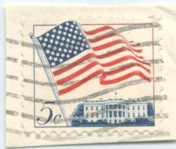 S33- 5 Cent American Flag - White House Stamp Scott #1208 - $0.99