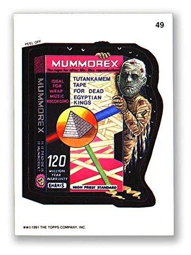 Wacky Packages 1991 #49 Mummorex Puzzle Piece Back