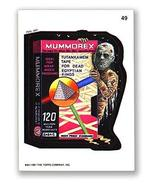 Wacky Packages 1991 #49 Mummorex Puzzle Piece Back - $2.93