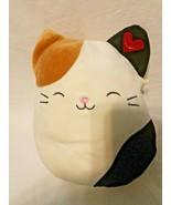 "Squishmallow Calico Cat 8"" Plush Stuffed Animal Red Heart Tan Black Oliver - $16.79"