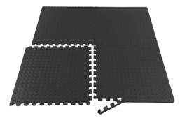 Gym flooring Rubber Fitness Floor Mat Rug Gym Workout 24 SQ FT Highest Q... - $38.61