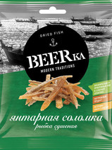 """""""Beerka"""", blue whiting FISH with pepper, dried, 25 g from RUSSIA - $5.99"""
