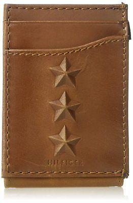 Tommy Hilfiger Men's 100% Leather Wide Magnetic Front Pocket Wallet 31TL160017