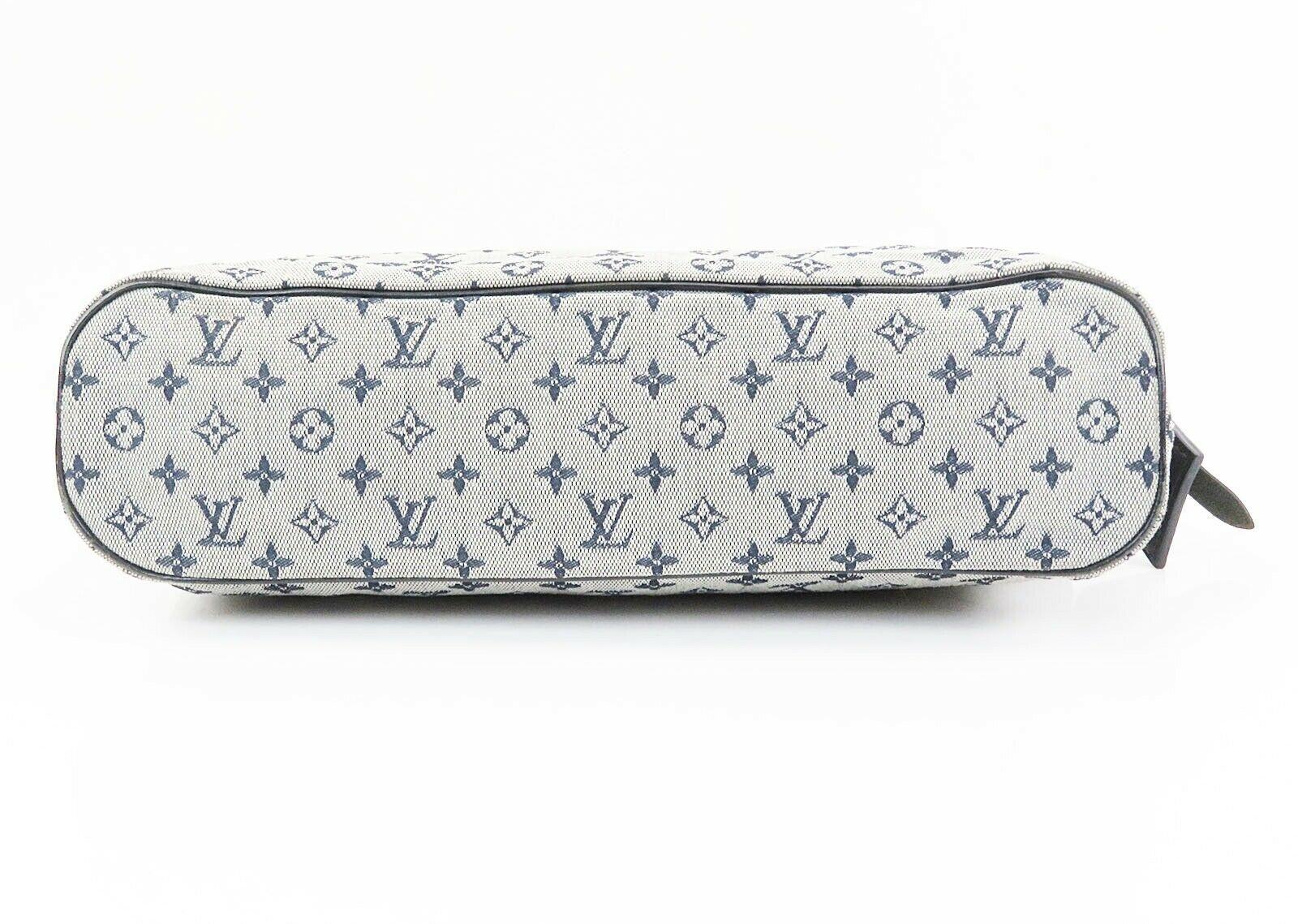 Auth LOUIS VUITTON Lucille PM Mini Lin Blue Denim Tote Hand Bag Purse #32973