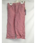 24 Month Girl Long Pants Tall Red White Checker Cherries Cherry 100% Cotton - $12.25