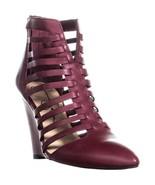 Jessica Simpson Viine Pointed Toe Strappy Wedge Sandals, Bava Red, 5.5 U... - $41.27