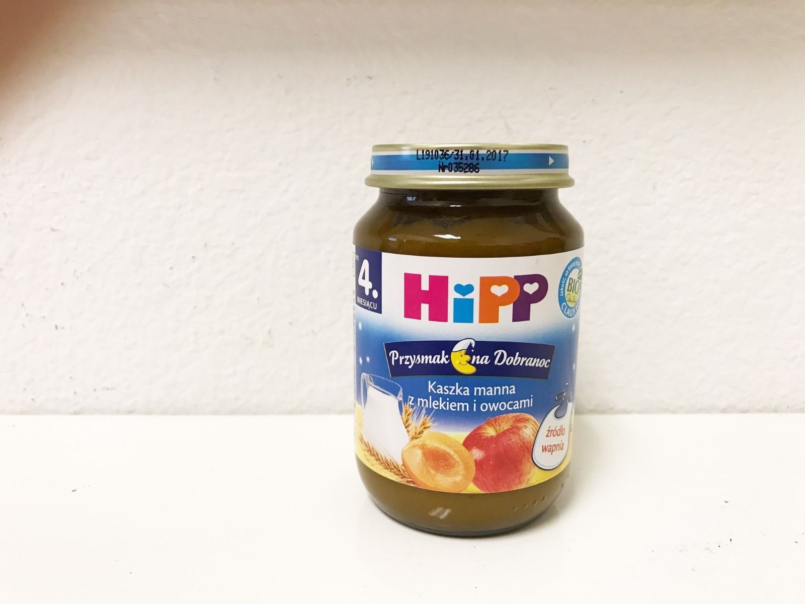 HiPP GOODNIGHT Organic Baby meal with fruit -1 jar- from the 4th month - $5.93
