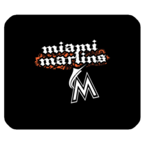 Mouse Pad The Miami Marlins Logo New American Baseball Team Sports Editions - $113,93 MXN