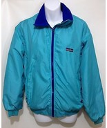 Patagonia Womens 12 Aqua Blue Fleece-Lined Nylon Jacket Made in USA - $55.37