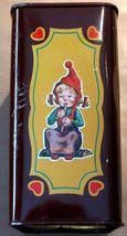 DUCADO SOLINGEN Vintage Old Coin Tin Box 2 Dwarfs Elves Dancing Stamped Germany image 4