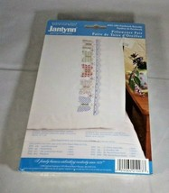 Pillowcase Pair Stamped Cross Stitch Butterflies Polyester Cotton Unopened Set - $5.94
