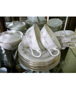 Vintage Arcadian Prestige PETITE ROSE  12 pc tea set~cups, saucers, suga... - $39.60