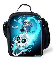 Undertale Game Sans Papyrus New Lunchbox School Bag Lunch Bag plus - $22.00