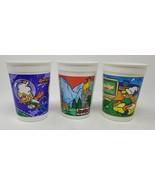 Set of 7  Vintage Different Scenes Plastic Ponderosa Sprinkles Kool Aid ... - $17.77