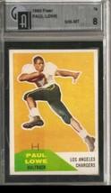 1960 Fleer #76 Paul Lowe RC Rookie GAI 8 NM MT ID: 1240 - $321.75