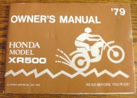 1979 Honda XR500 Motorcycle Owners Owner's Manual - $36.29