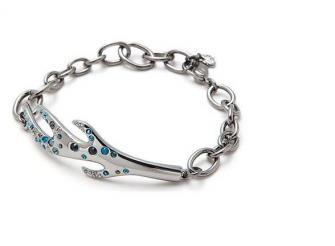 Primary image for Swarovski signed Domination bracelet Rhuthenium plated item # 910917