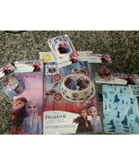 Frozen II Elsa Party Set Sugar Sheet Cupcake Liners Candles Treat Bags T... - $23.76