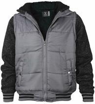 Vertical Sport Men's Sherpa Fleece Lined Two Tone Zip Up Hoodie Jacket image 12