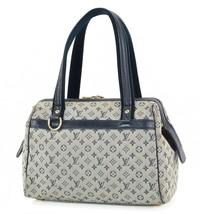 Authentic LOUIS VUITTON Josephine PM Blue Mini Lin Hand Bag Purse #34089 - $285.00