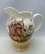 Cracker Barrel - Easter Treasures pattern - 56 oz. Water Pitcher - NEW &... - $31.68