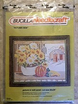 """Bucilla Needlecraft Autumn View Picture or Wall Panel cut size 20 x 24"""" ... - $45.00"""